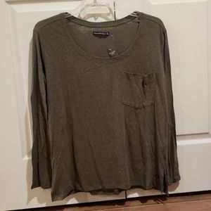 NWT Abercrombie & Fitch Olive Green Pocket Tee